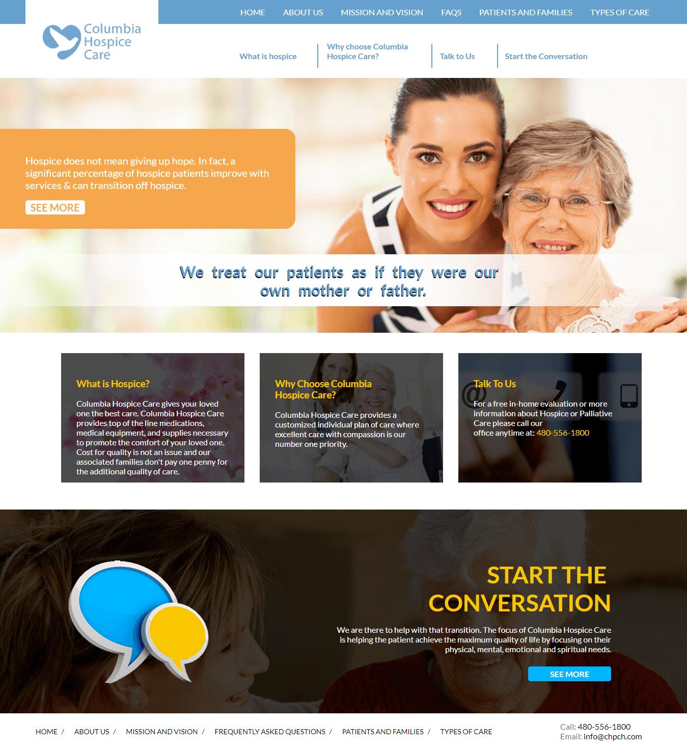 Columbia-Hospice-Care-Website