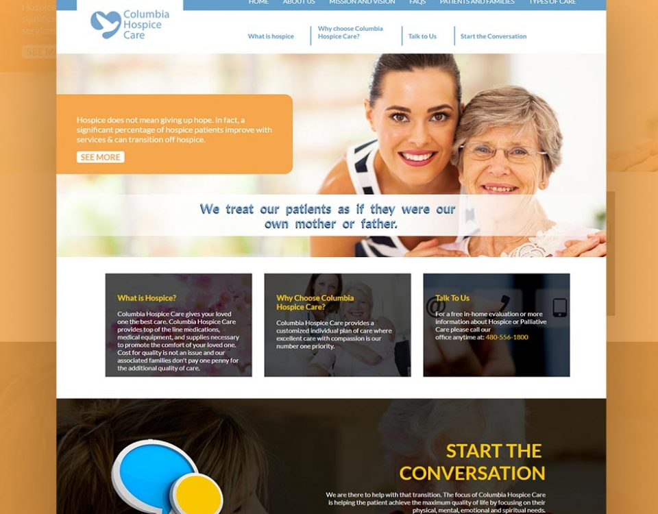 Columbia Hospice Care Website