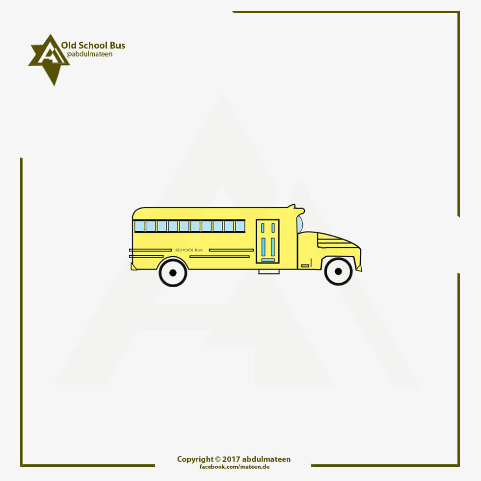 Old School Bus - Illustration