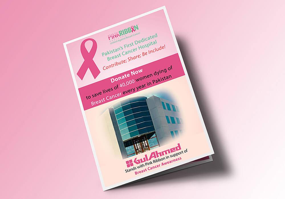 Brochure Design Pink Ribon