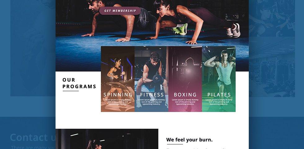 Gym Membership landing - Web Design by Abdul Mateen - Graphic Designer & Front-End-Developer - Islamabad, Pakistan