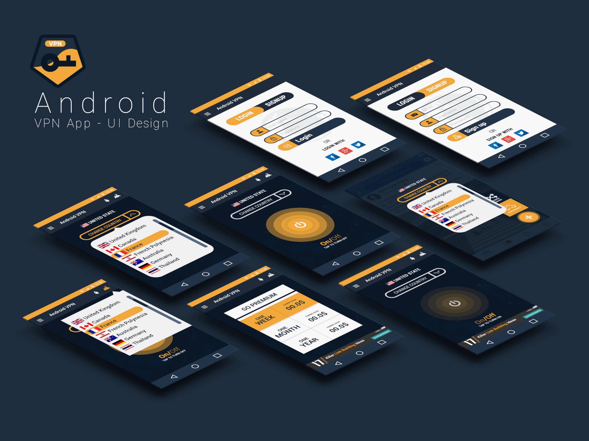 Android App Design by Abdul Mateen - Graphic Designer & Front-End-Developer - Islamabad, Pakistan