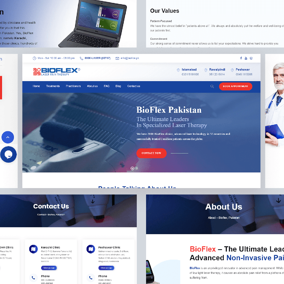 Bioflex - Web Design by Abdul Mateen - Graphic Designer & Front-End-Developer - Islamabad, Pakistan