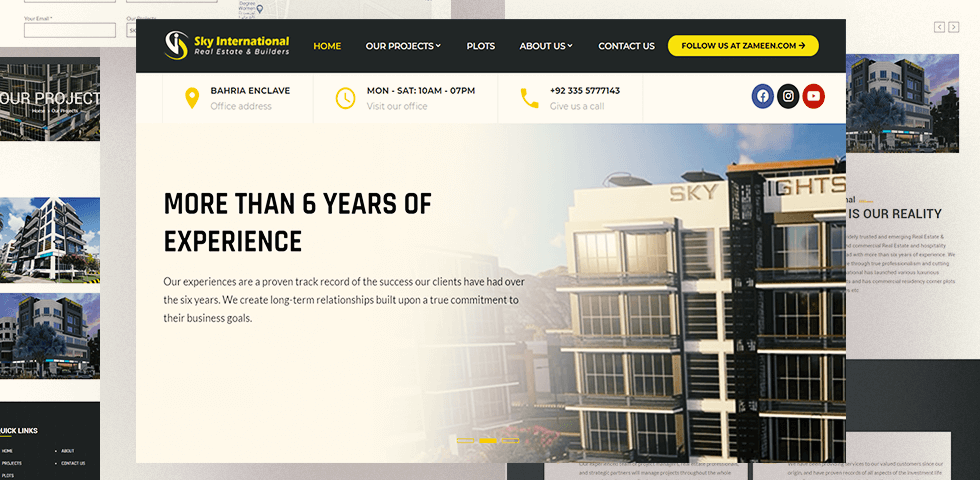 Sky International - Web Design by Abdul Mateen - Graphic Designer & Front-End-Developer - Islamabad, Pakistan