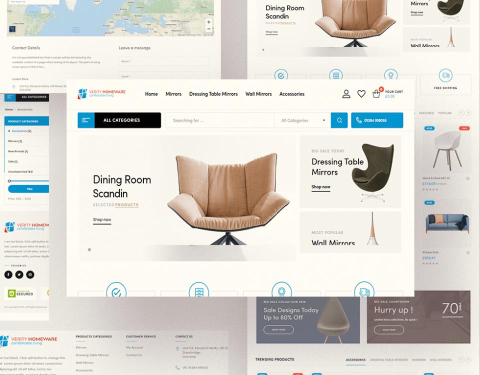Verity Homeware - Web Design by Abdul Mateen - Graphic Designer & Front-End-Developer - Islamabad, Pakistan