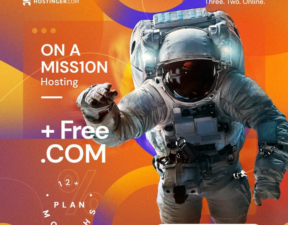 Get free domain with Premium Hosting - Hostinger