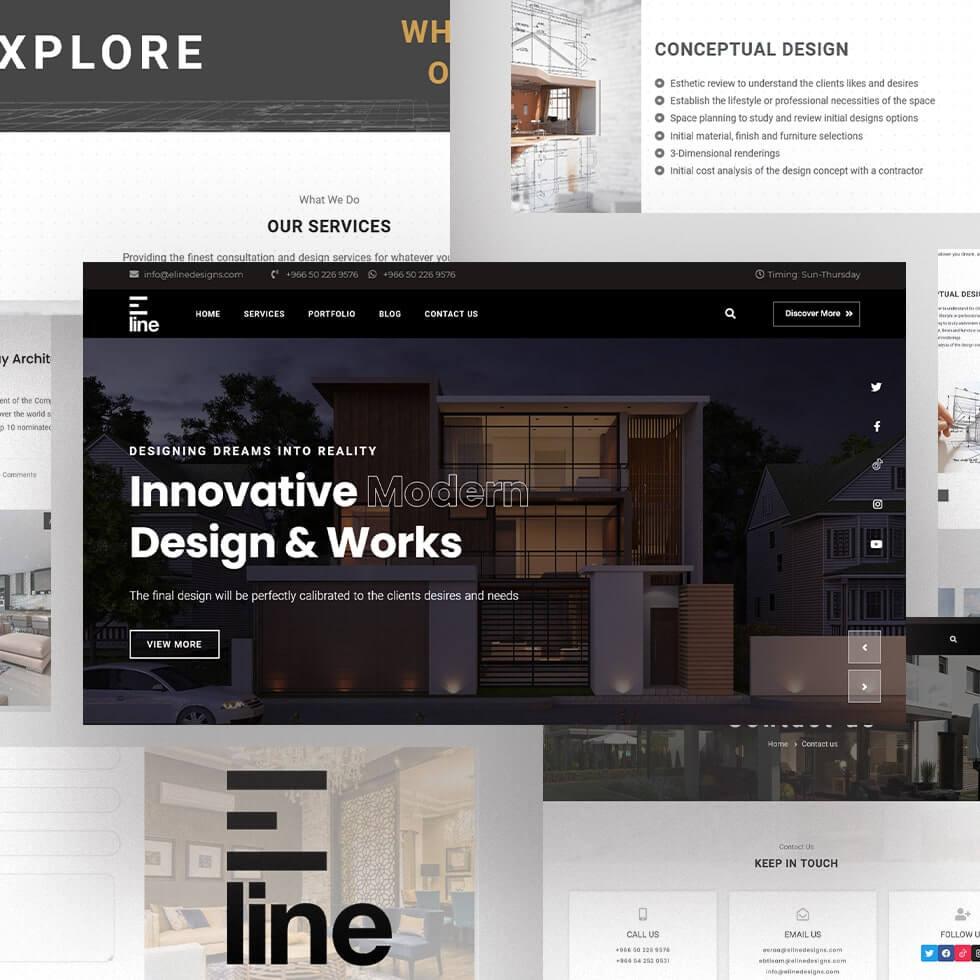 Eline Designs - Web Design by Abdul Mateen - Graphic Designer & Front-End-Developer - Islamabad, Pakistan
